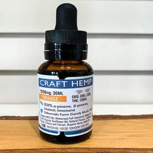 Remedy Full Spectrum Craft Hemp CBD Oil -1000mg - 30ml - Orange