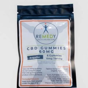 Remedy - CBD Gummies 10mg/60mg 6 count Regular